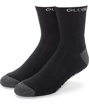 Globe Ingles Black & Grey Crew Socks