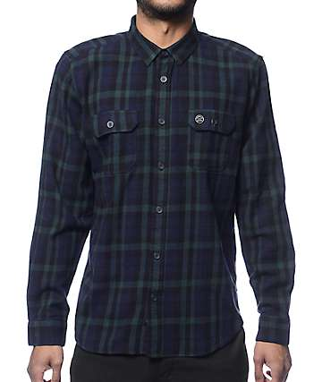 Globe Midnight Green Flannel Shirt