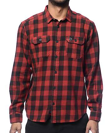 Globe Midnight Red Flannel Shirt