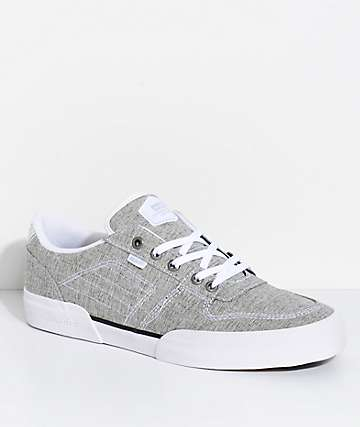 Globe Mojo Legacy Grey Chambray & White Skate Shoes