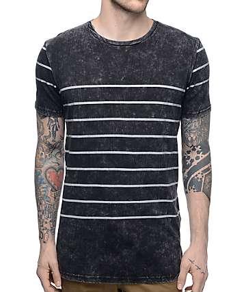 Globe Moonshine camiseta a rayas en blanco y negro