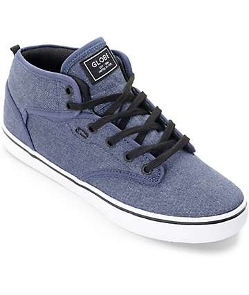 Globe Motley Mid Chambray Navy Shoes