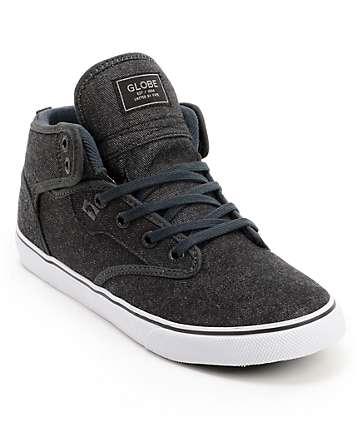 Globe Motley zapatos de skate medio mezclilla de color negro