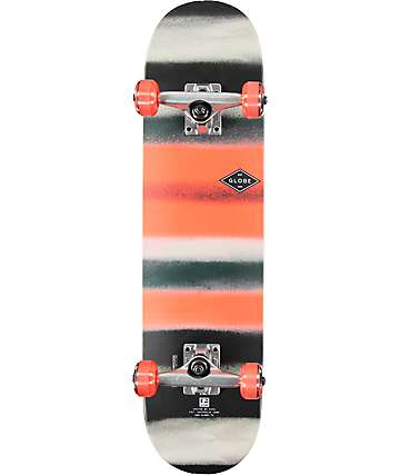 "Globe Red & Black 7.3""  Skateboard Complete"