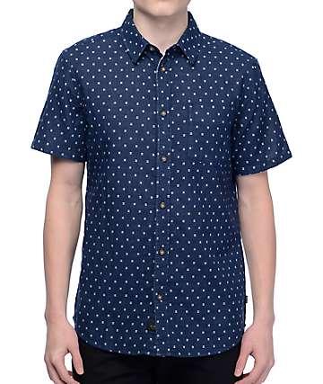 Globe Robertson camisa en blanco y azul marino