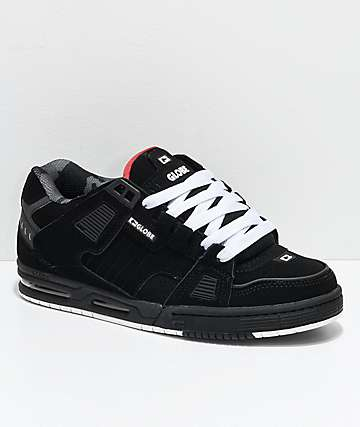 Globe Sabre Black, White & Camo Skate Shoes