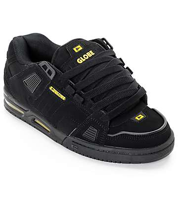 Globe Sabre Black & Yellow Skate Shoes