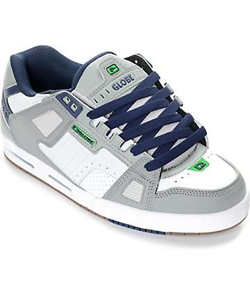 Globe Sabre Grey, Blue & Green Skate Shoes