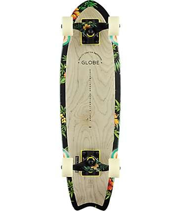"Globe Sagano Grey & Hibiscus 26"" Cruiser Skateboard Complete"