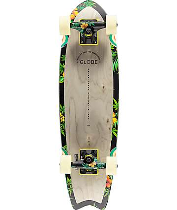 "Globe Sagano Hibiscus 26""  Cruiser Complete Skateboard"
