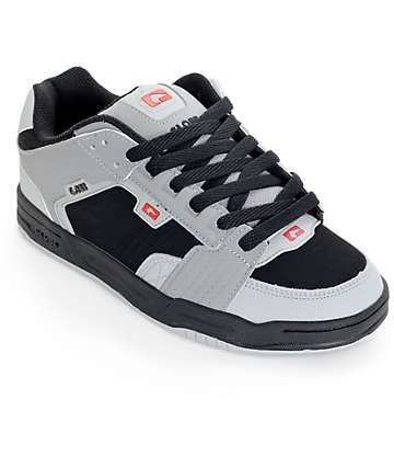 Globe Scribe Black, Grey, and Red Skate Shoes