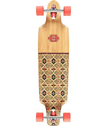 "Globe Spearpoint Bamboo 40"" Drop-Through Longboard Complete"