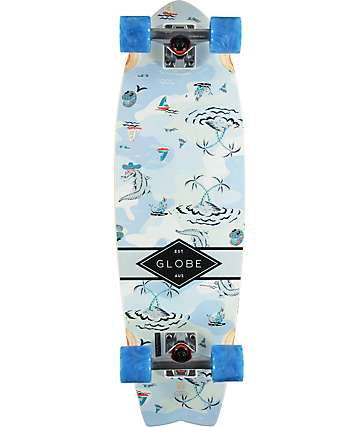 "Globe Sun City Palms 30"" Cruiser Complete Skateboard"