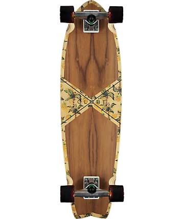"Globe Teak Pineapple Chromantic 9.25"" completo de skate cruiser"