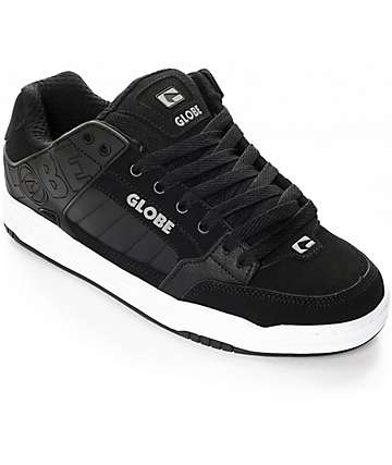 Globe Tilt Black & White Nubuck Skate Shoes