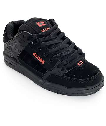 Globe Tilt Black and Red Skate Shoes