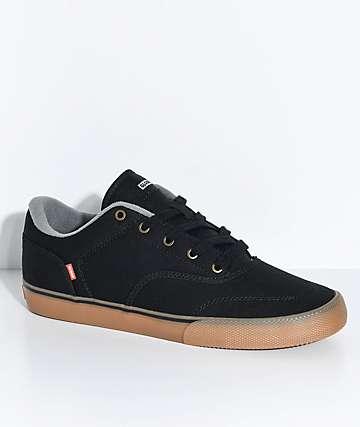 Globe Tribe Black Canvas & Gum Skate Shoes