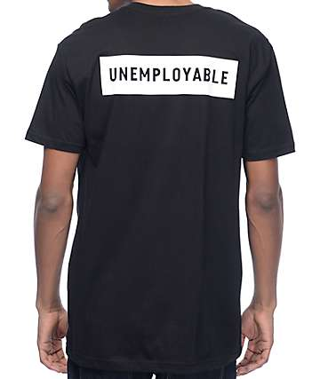 Globe Unemployable Classic Black T-Shirt