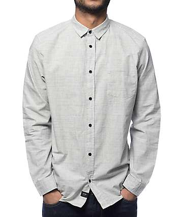 Globe Woods Grey Long Sleeve Button Up Shirt