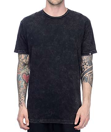 Gnarly Acid Wash Black T-Shirt