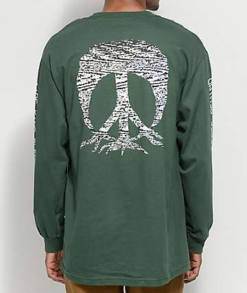 Gnarly Be Kind Rewind camiseta verde de manga larga