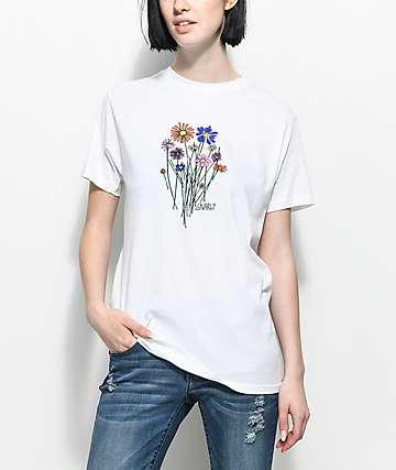 Gnarly Bouquet camiseta blanca
