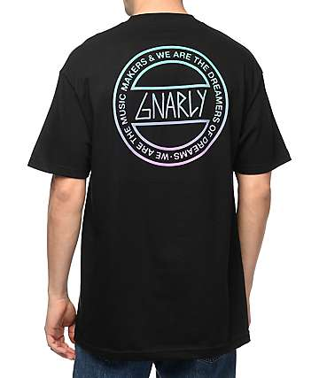 Gnarly Dreamers Black T-Shirt