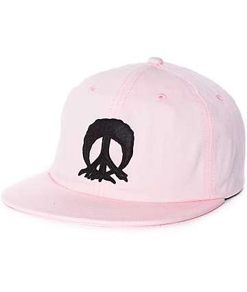 Gnarly Ebbits gorra strapback en rosa