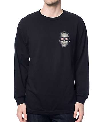 Gnarly Gnar Kelly Black Long Sleeve T-Shirt