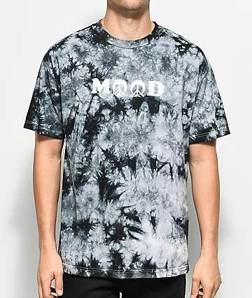 Gnarly Mood camiseta negra con efecto tie dye