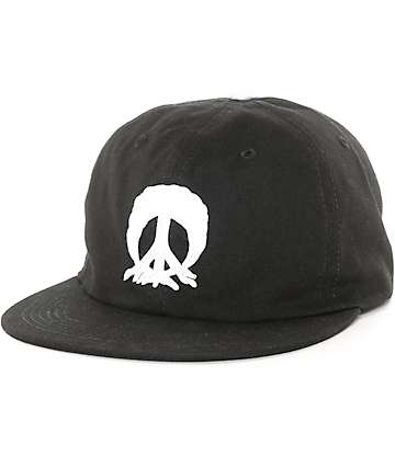 Gnarly Past Time Black Strapback Hat