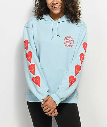 Gnarly Proddi Heart Blue Hoodie