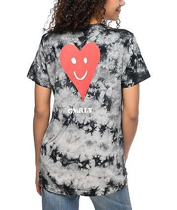 Gnarly Proddi camiseta negra con efecto tie dye