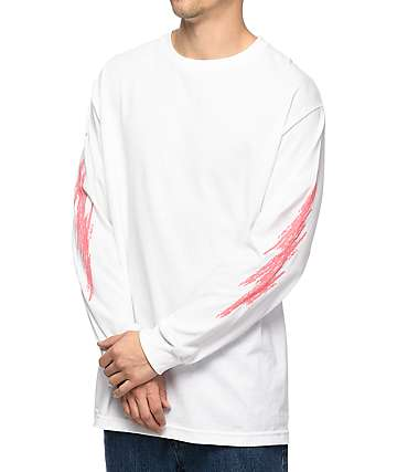 Gnarly Refreshing camiseta blanca de manga larga