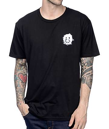 Gnarly Smile Forest Black T-Shirt