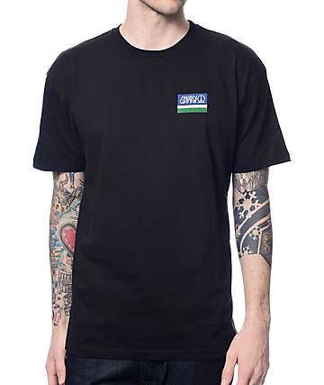 Gnarly Smile Label Black T-Shirt