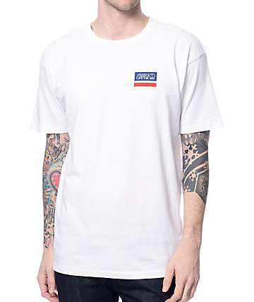 Gnarly Smile Label White T-Shirt