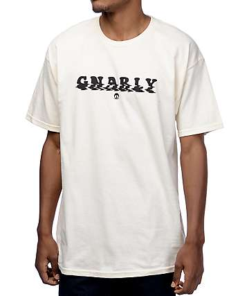 Gnarly Wavy Cream T-Shirt