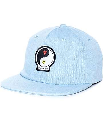 Gnarly Yin Yang gorra strapback de mezclilla