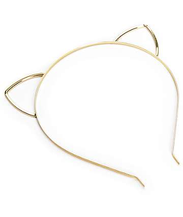 Gold Cat Ear Headband