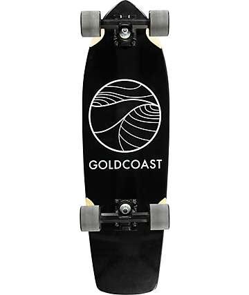"""Gold Coast Classic Black 28.25"""" tabla de skate cruiser completo"""