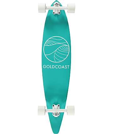 "Gold Coast Classic Turquoise 40""  Pintail Longboard Complete"