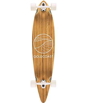 "Gold Coast Classic Zebra Pintail 44"" Longboard Complete"