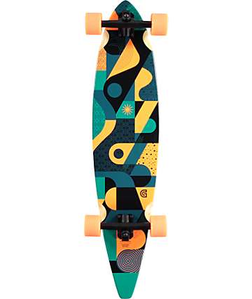 "Gold Coast Orbit 40"" Pintail Longboard Complete"