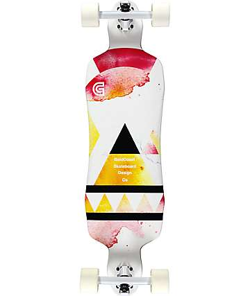 "Gold Coast Salvia 36"" Drop Through Longboard Complete"