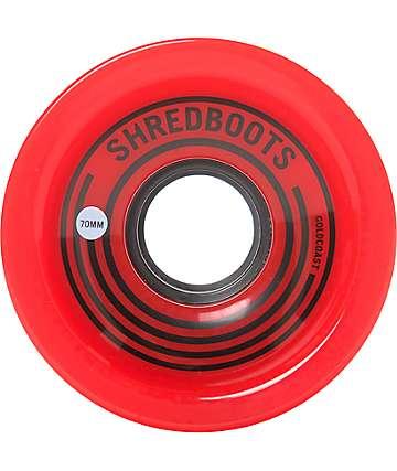 Gold Coast Shred Boots 70mm Red Longboard Wheels