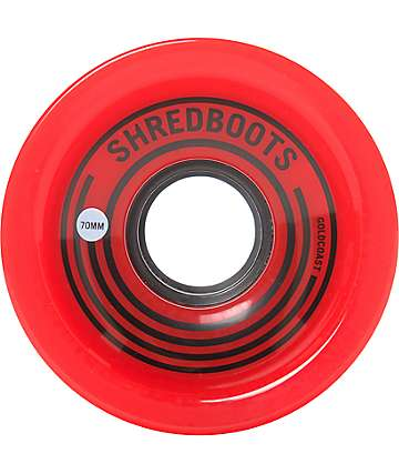 Gold Coast Shred Boots 70mm ruedas longboard en rojo