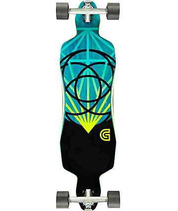 "Gold Coast The Lume 36"" Drop Through Longboard Complete"
