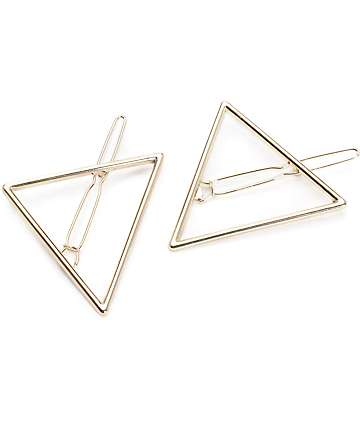 Gold Triangle Hair Pins