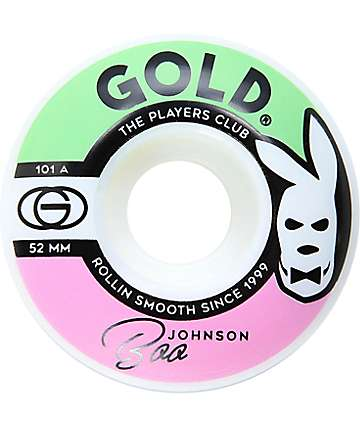 Gold Wheels Boo Players Club 52mm Skateboard Wheels